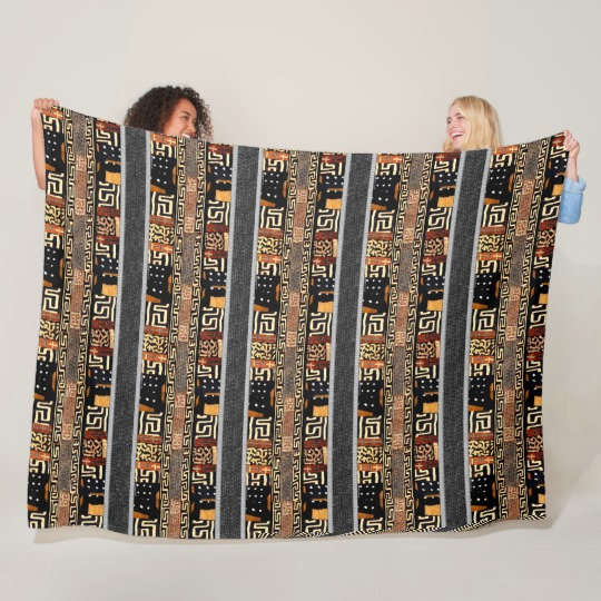 African  Prints and Patterns Fleece Blanket