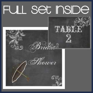 Chalkboard Floral Wedding Collection