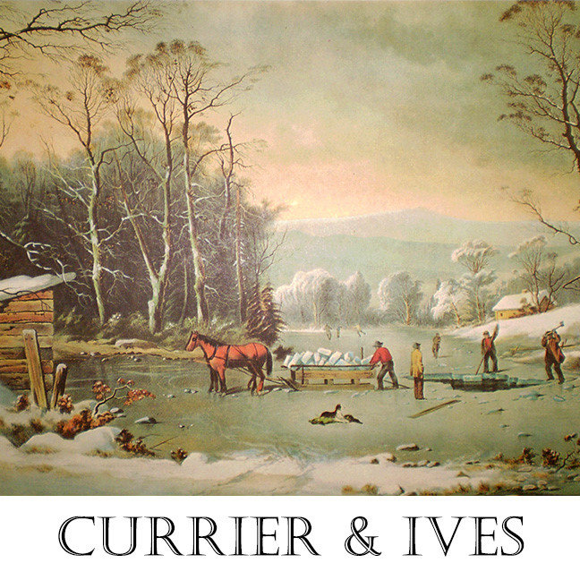 Currier and Ives Lithograph Reprints