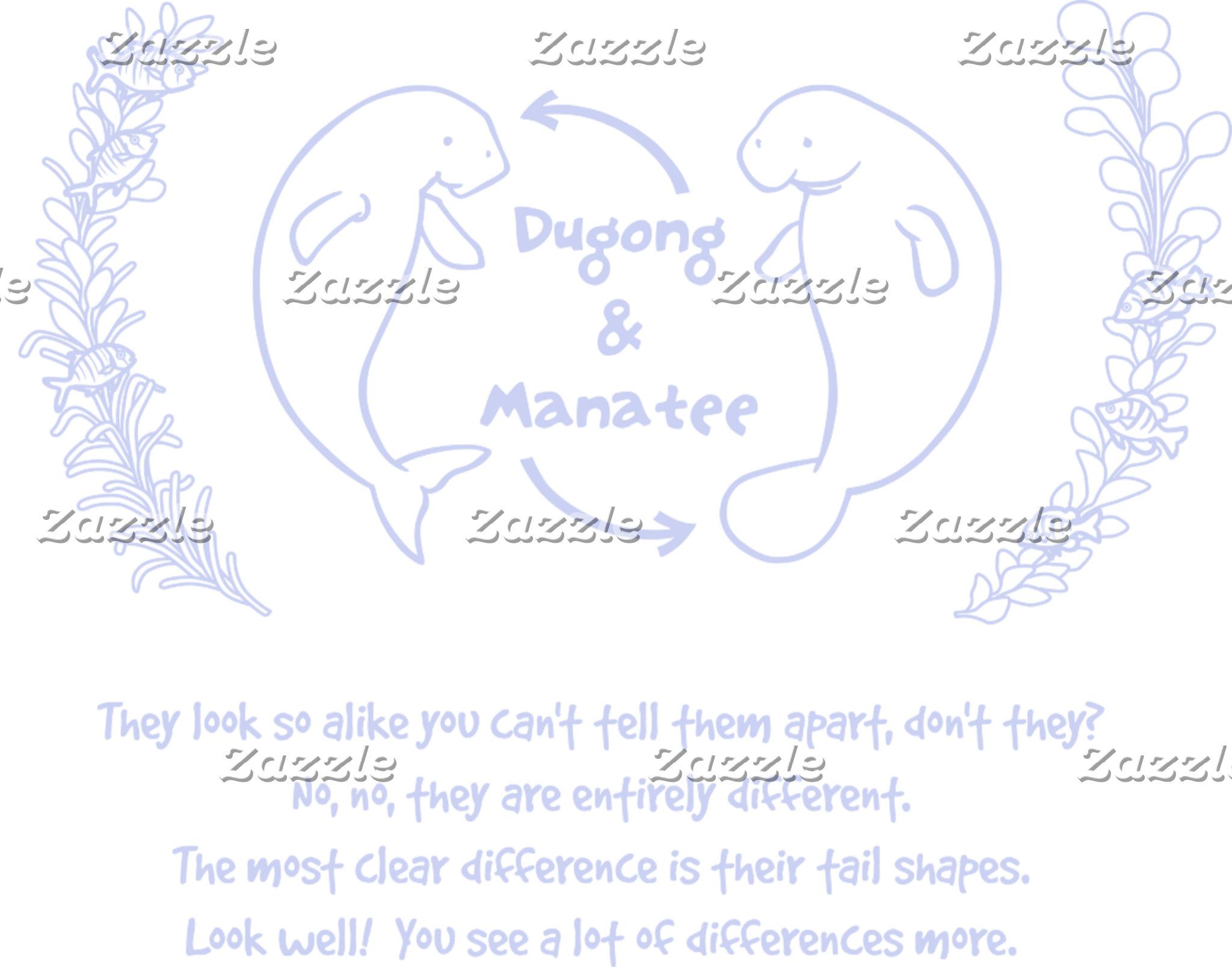 【ジュゴンとマナティー(薄紺)】 Dugong & Manatee (pale blue)