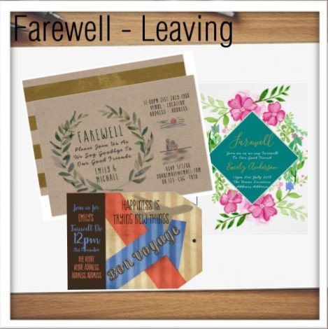 Farewell, Leaving