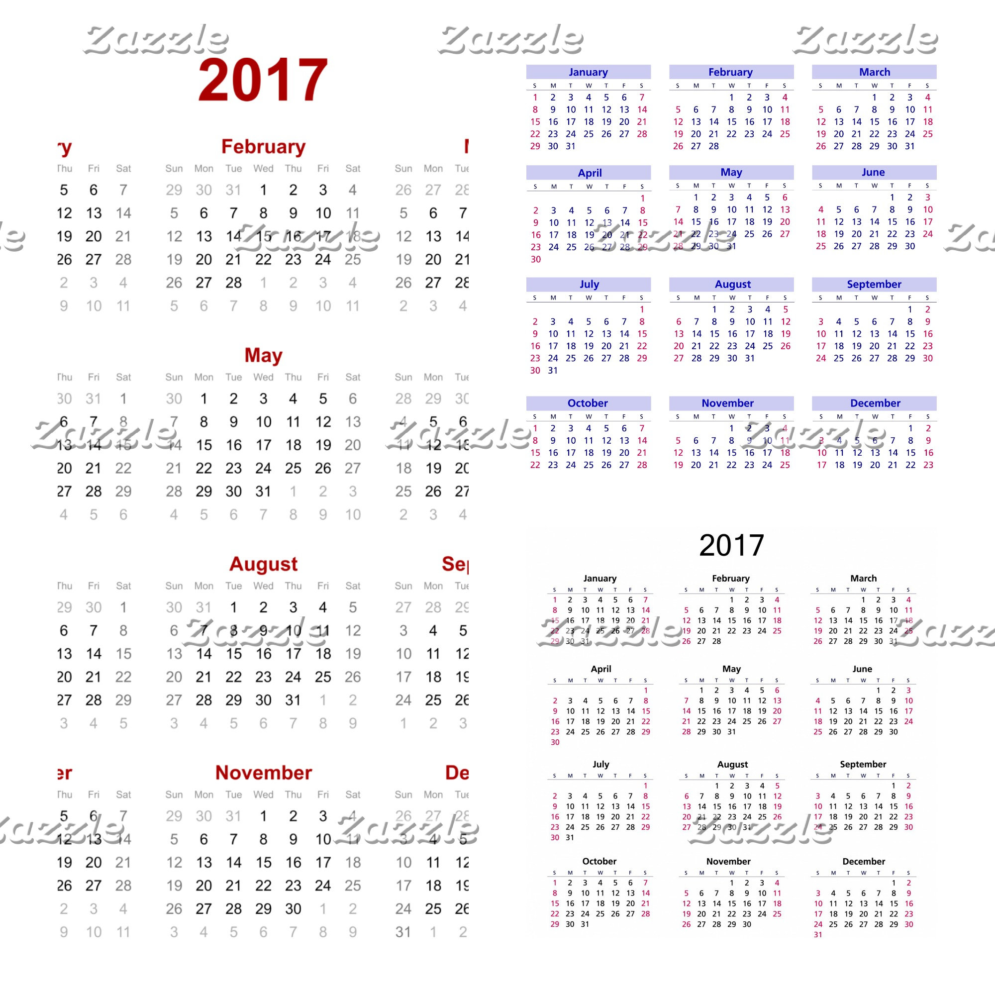 Calendars (Posters, mousepads and calendars)