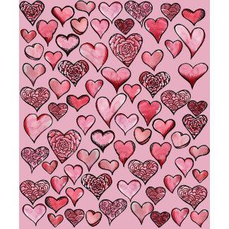 Artistic Valentine Hearts