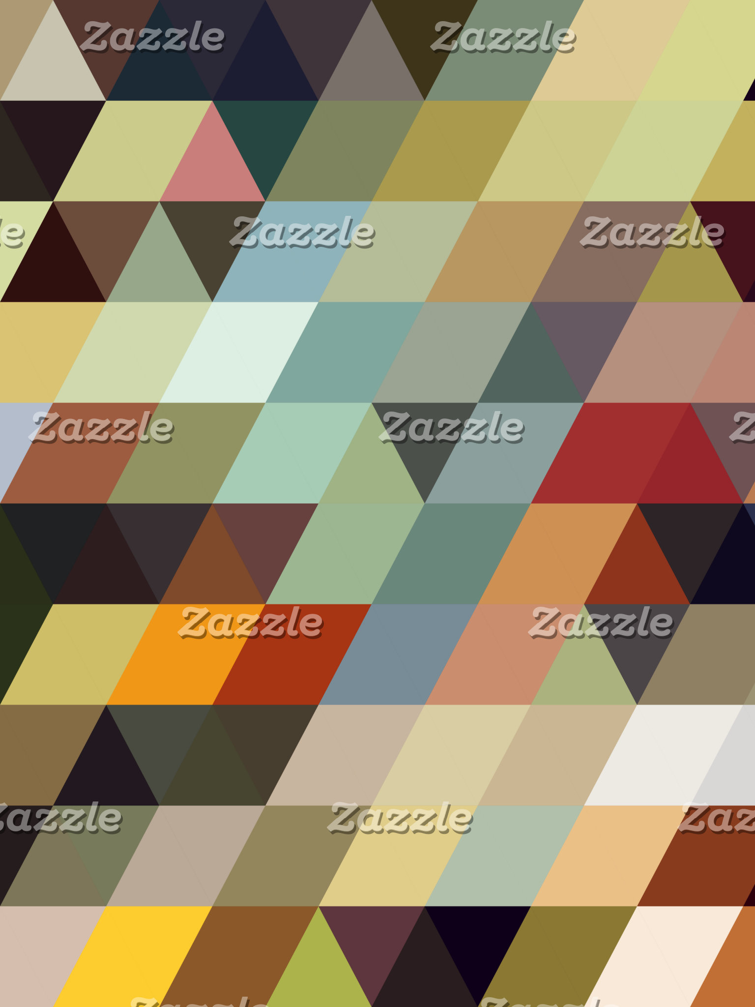 Geometric Patterns | Multicolored Triangles