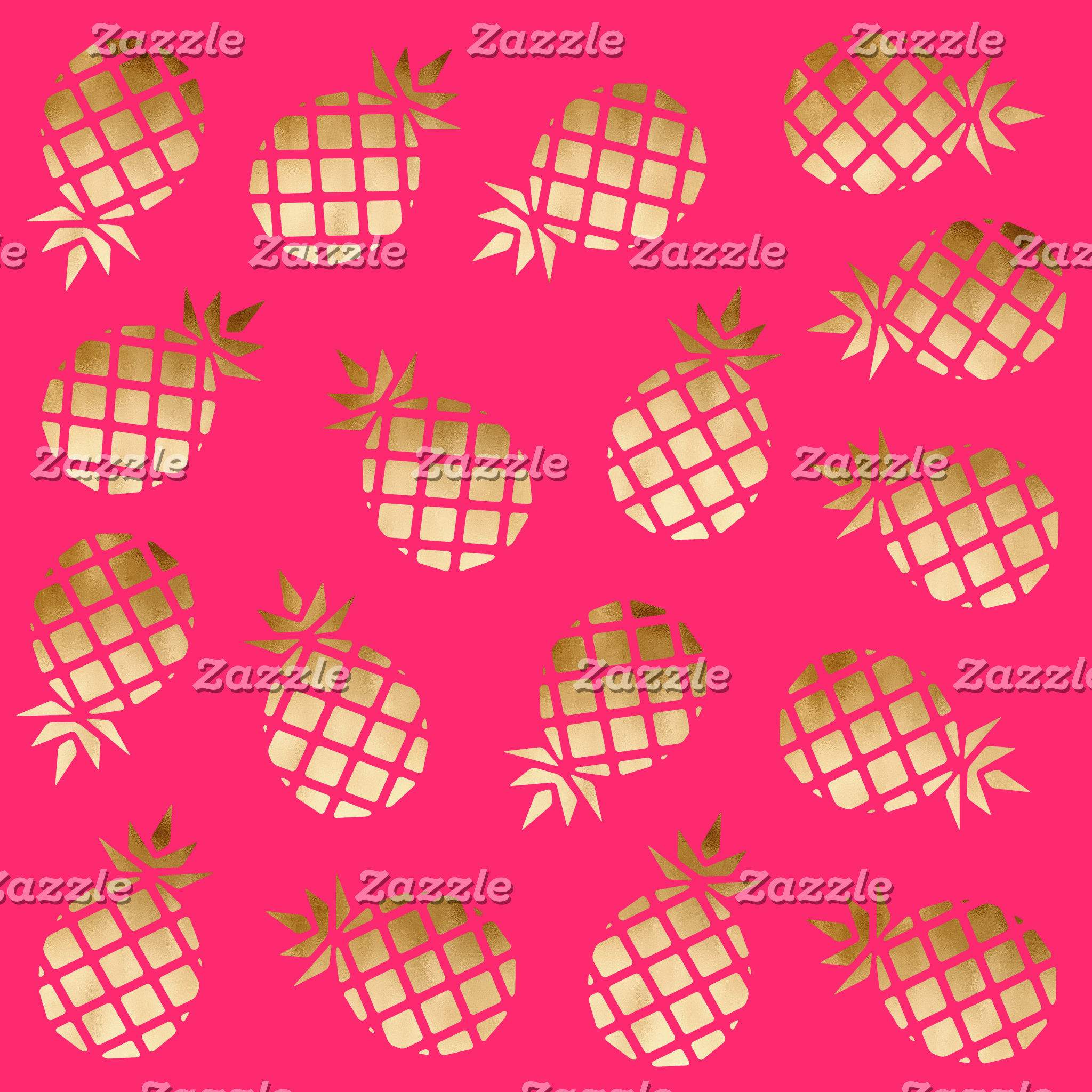 Gold Hot Pink Pineapples