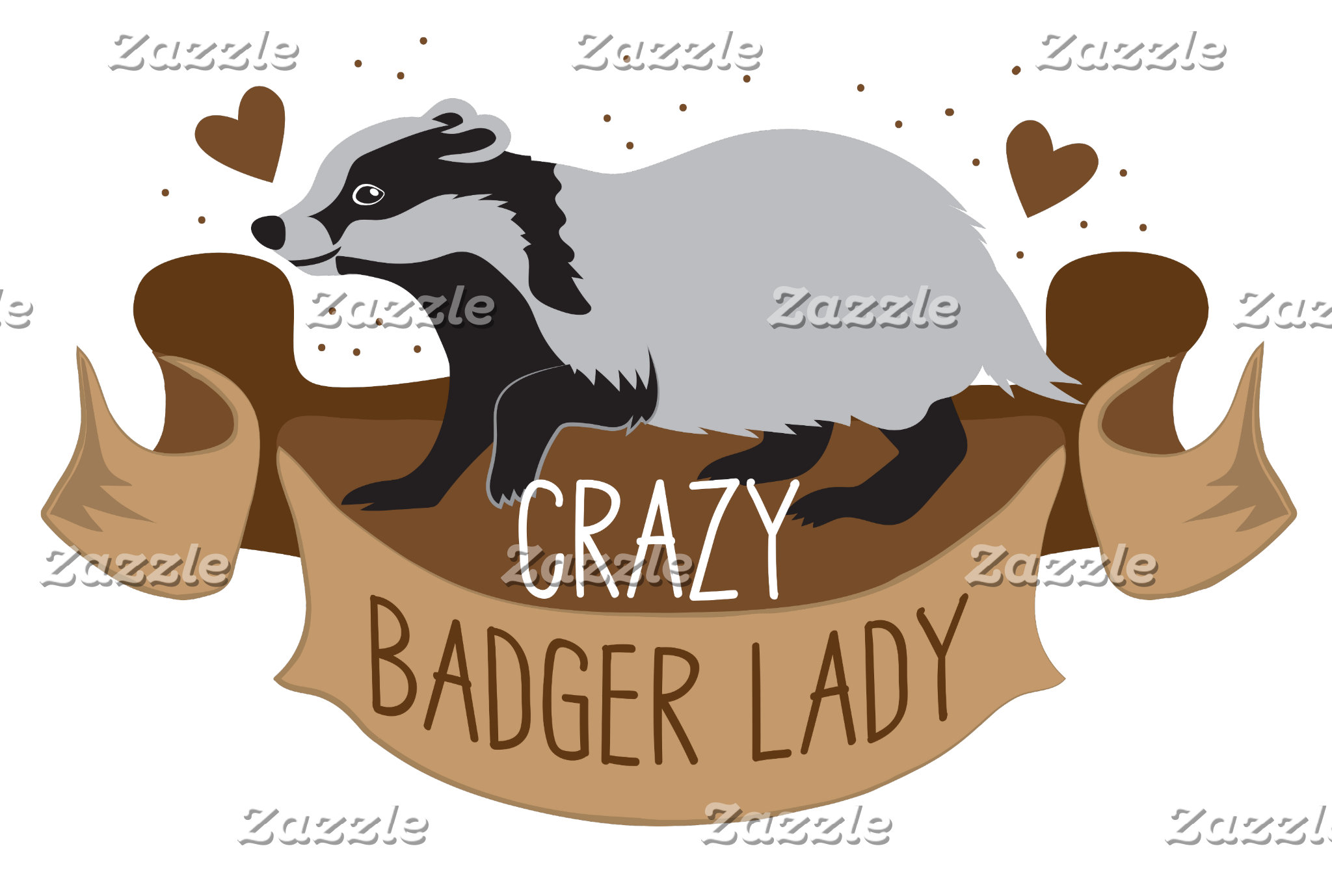 crazy badger lady banner
