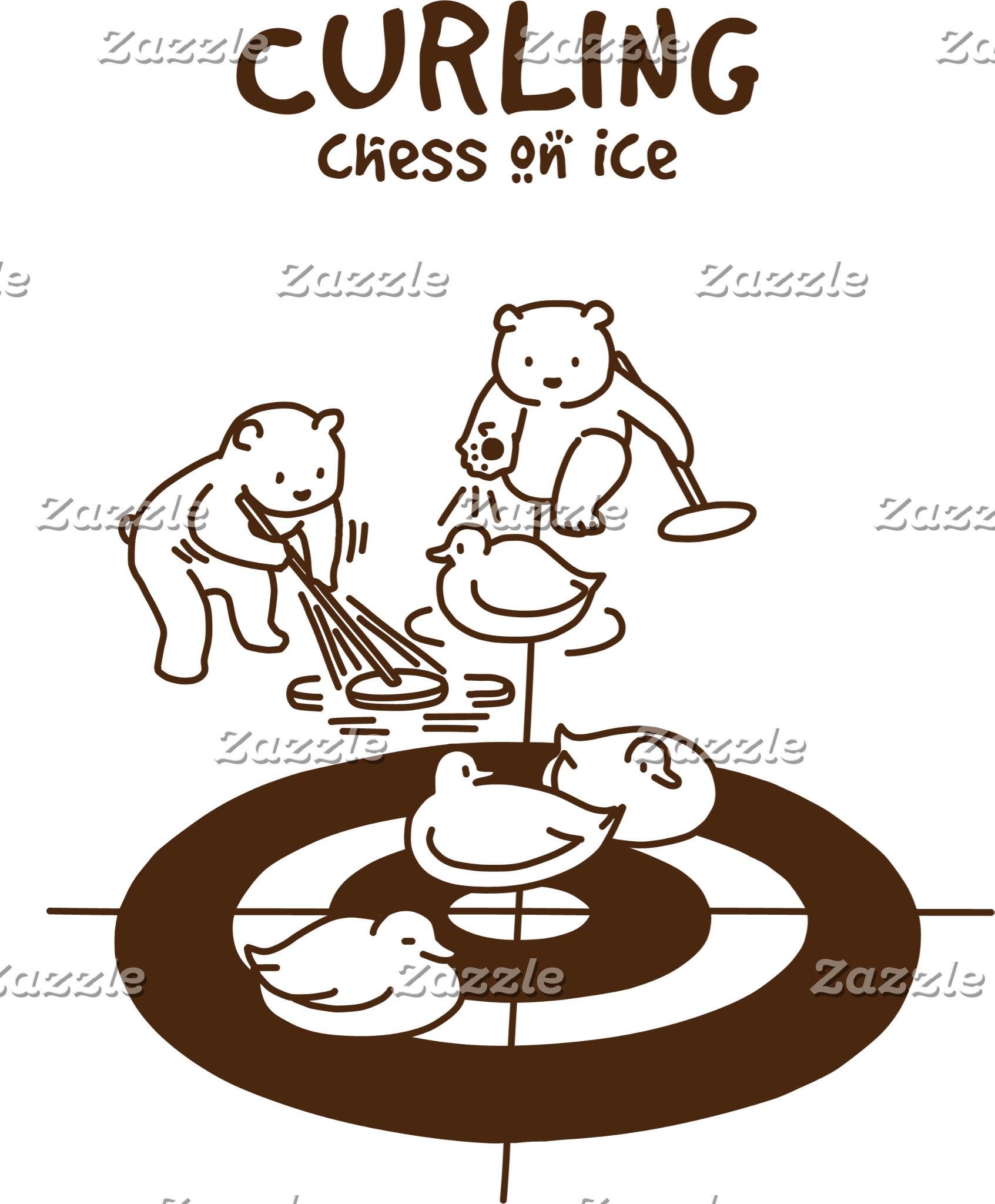 【鴨カーリング(茶)】 Mallard Curling (brown)