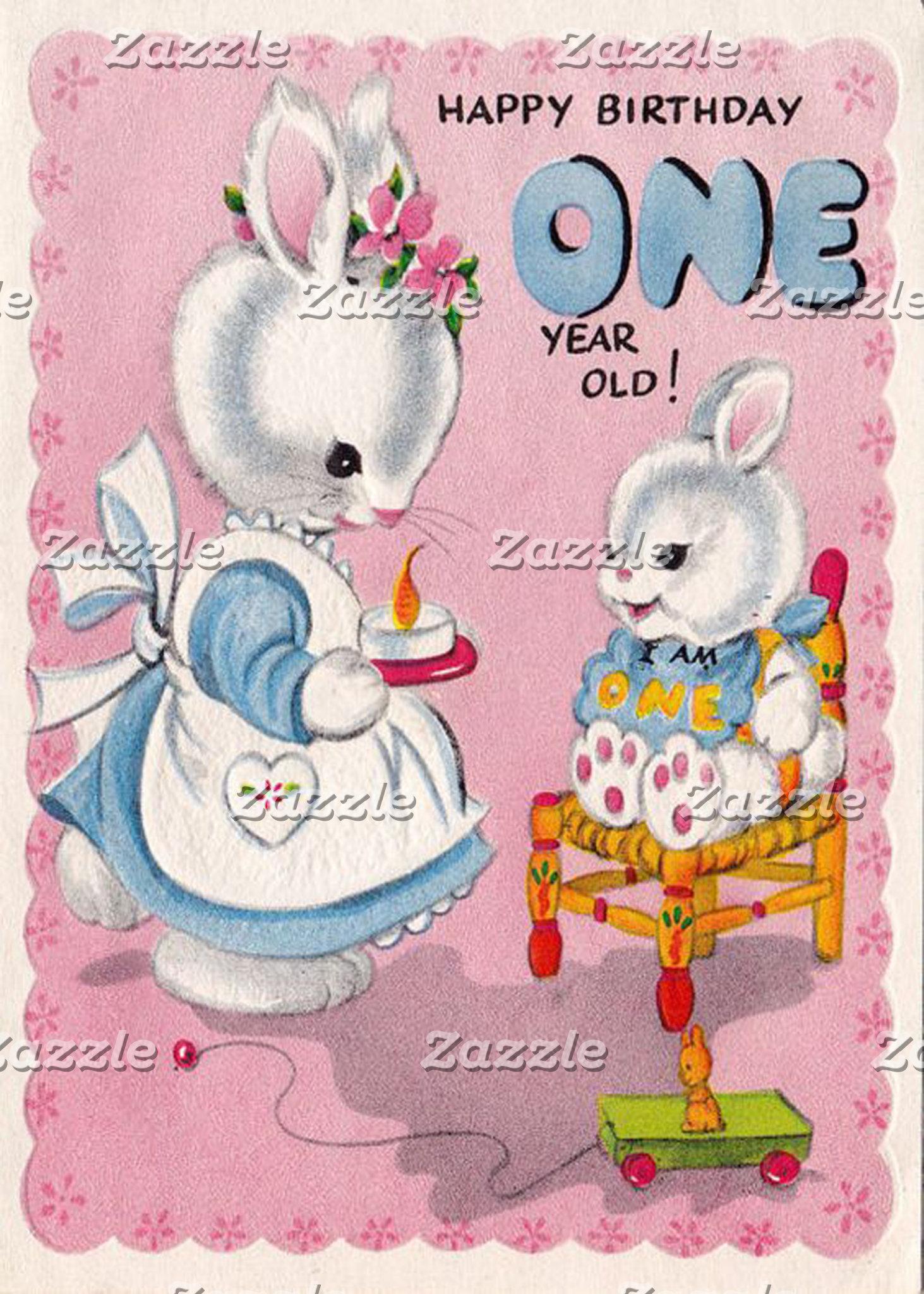 Cute Vintage Birthday Cards