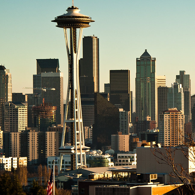 Downtown Seattle skyline and Space Needle