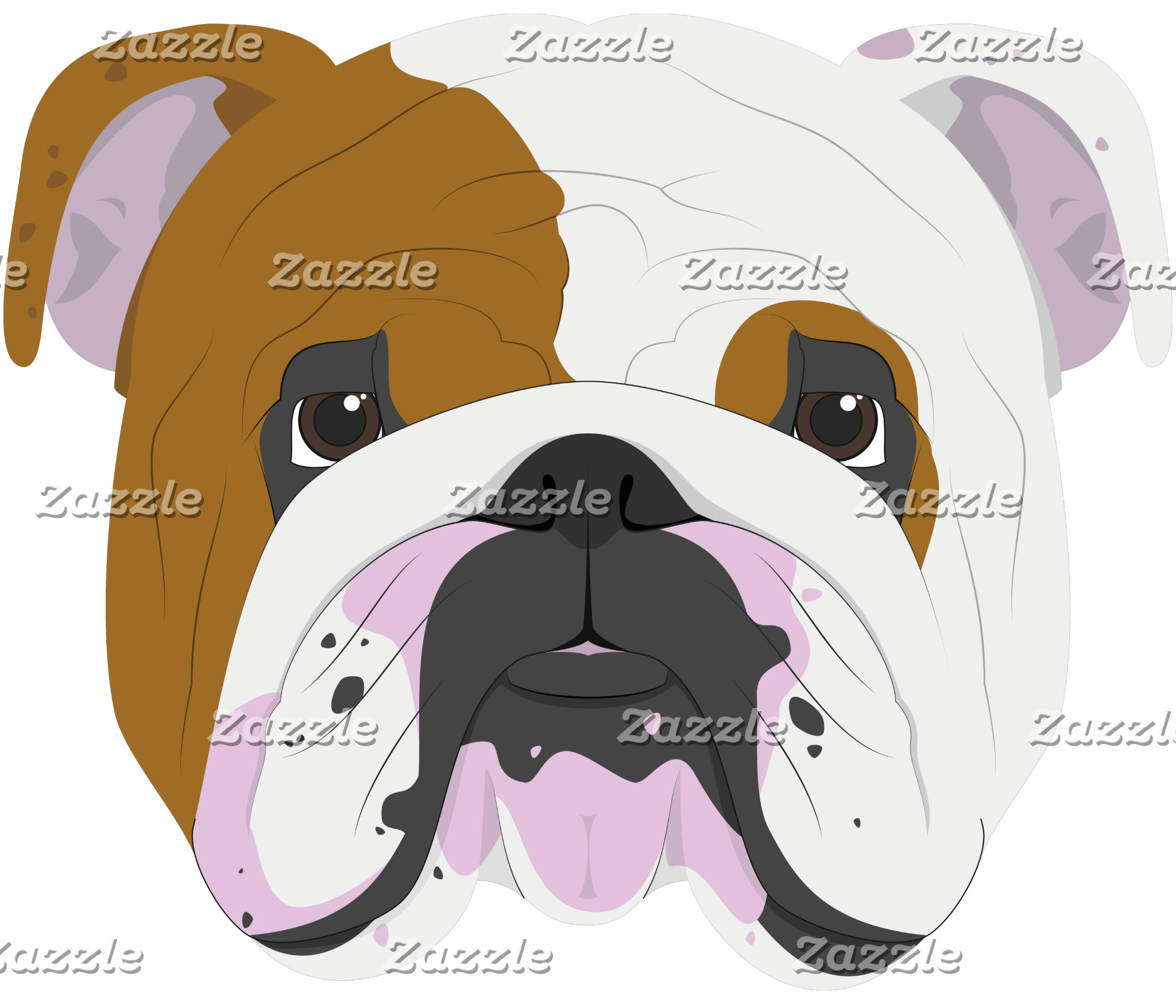 English Bulldog Dog Portrait