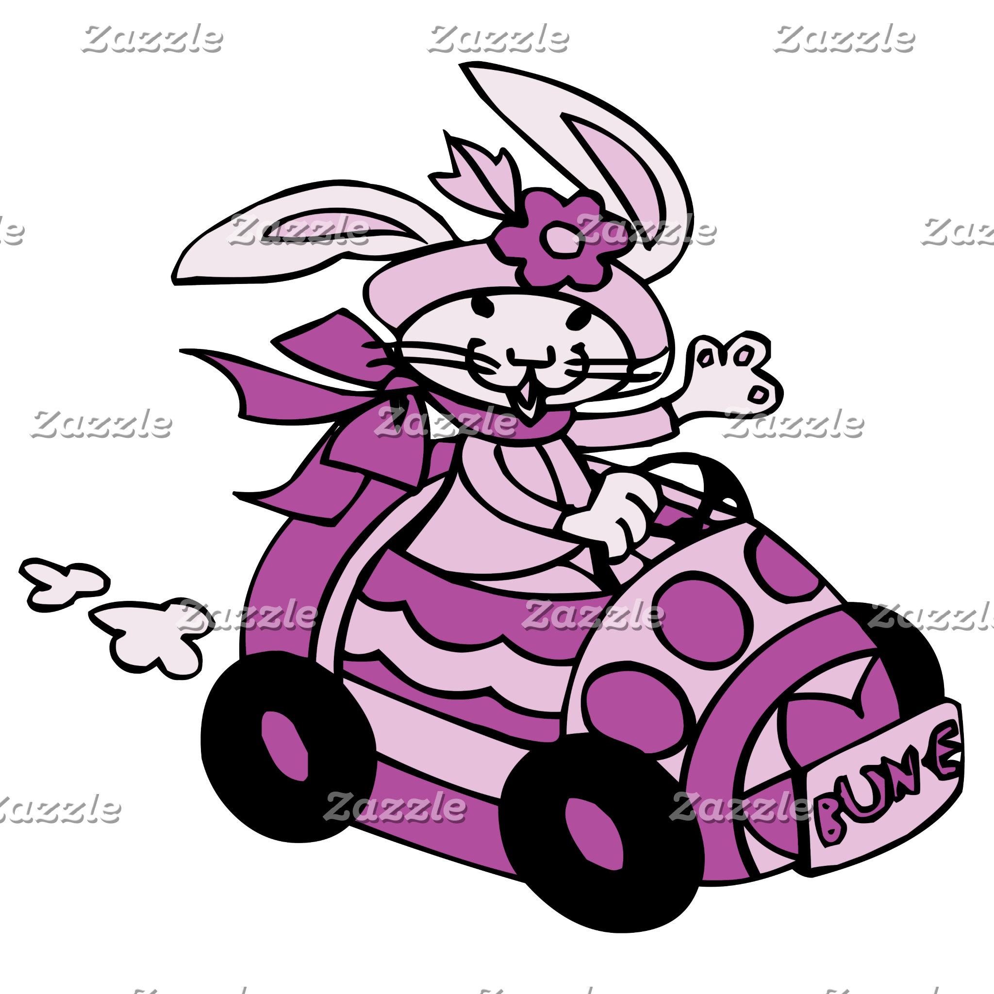 Bunny Easter Egg Car Pink Purple Bun-E