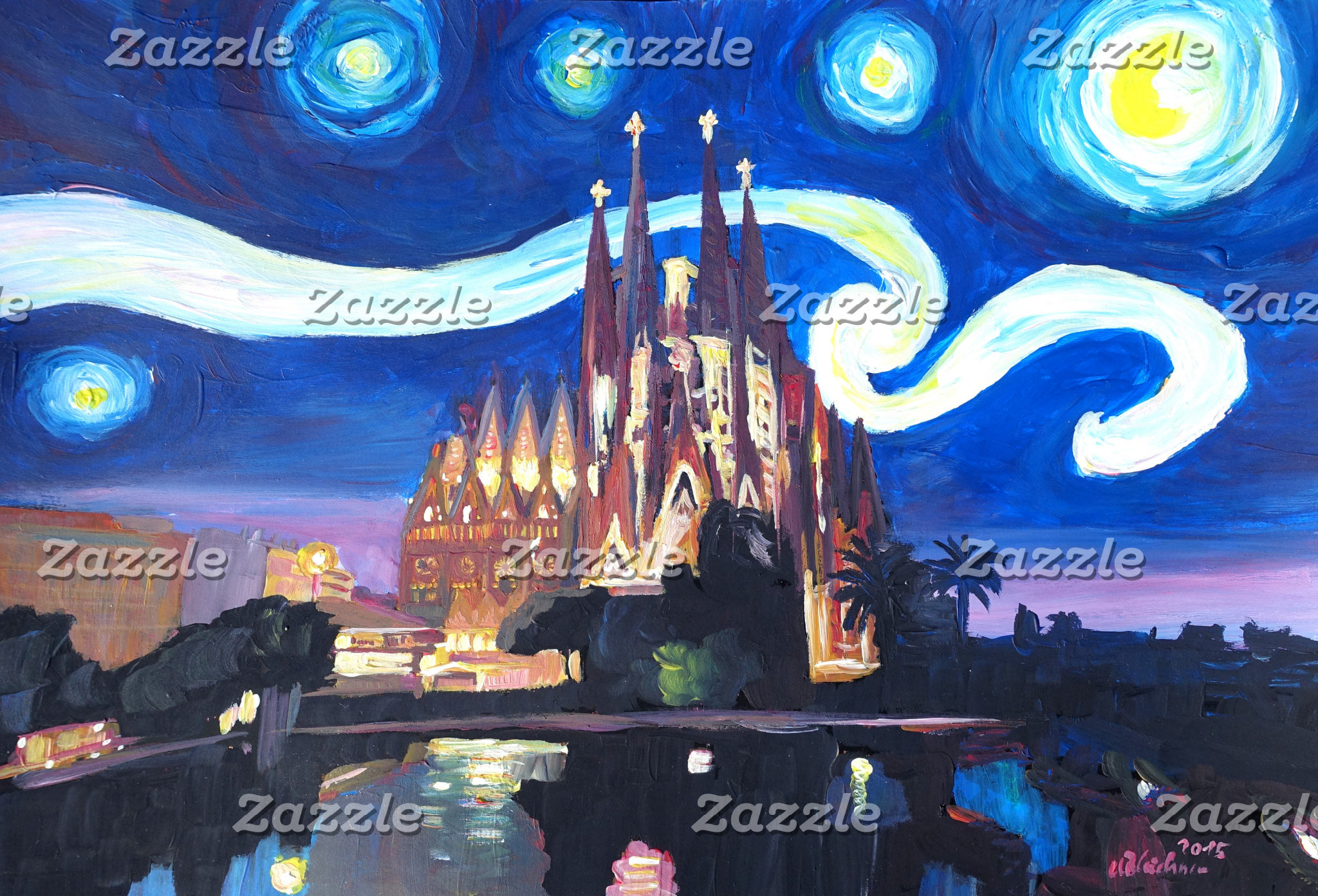 Starry night cityscapes