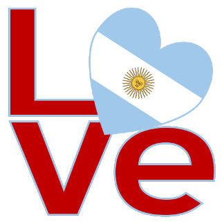 Argentine Red LOVE Flag