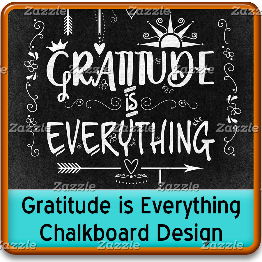Gratitude is Everything Chalkboard Note to Self