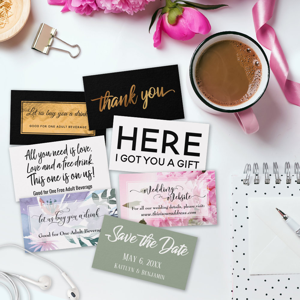 Enclosure Cards & Favor Tags