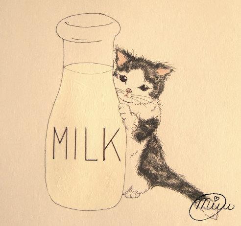 【ミルク瓶と仔猫ちゃん】