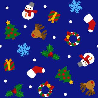 【クリスマスモチーフ(ふちギザ)シームレス】Christmas motifs(jag-Seamles