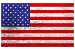 Metallic American Flag Design