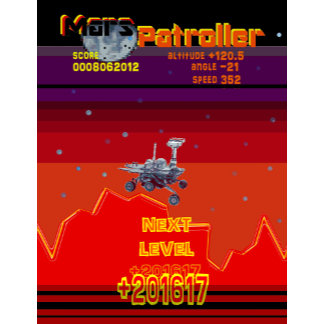 Retro Game 80's Style Arcade Mars Patroller