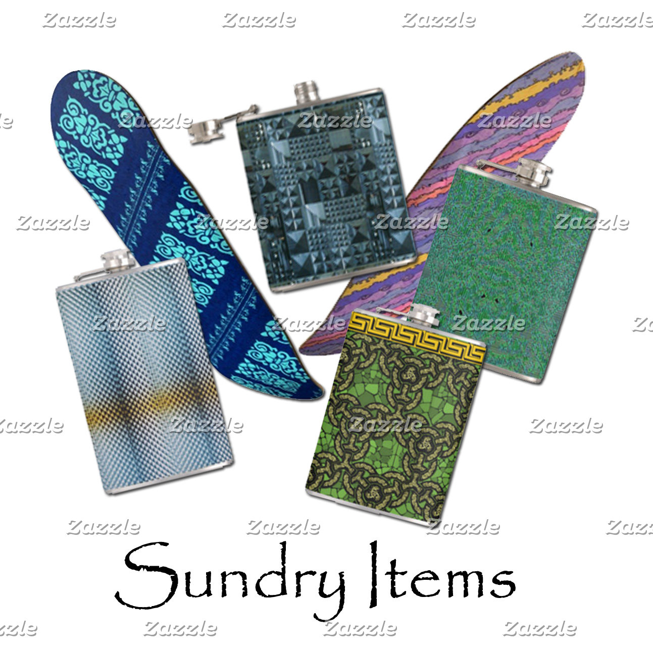 Sundries, Flasks, Bandanas, etc.