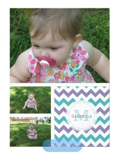 Chevron Pattern Invitations