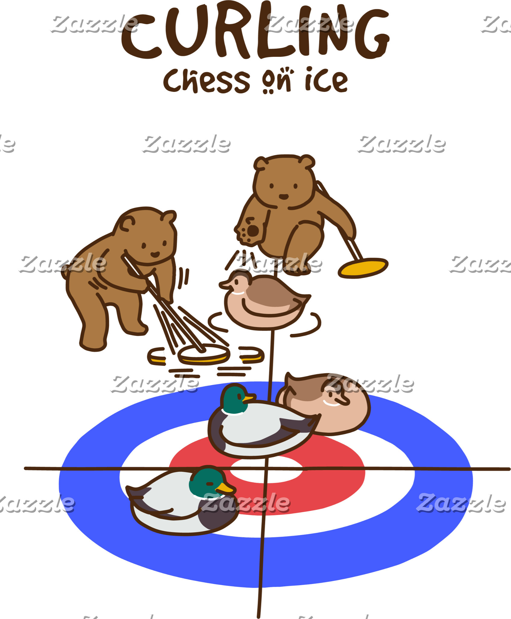 【鴨カーリング】 Mallard Curling