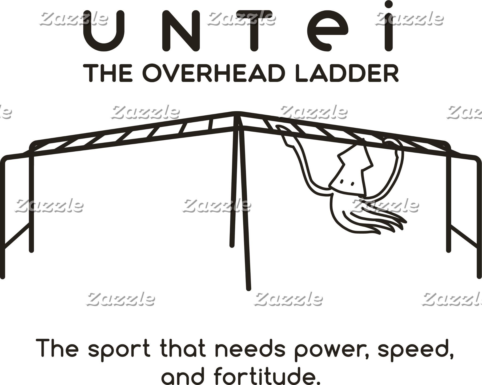 【雲梯するイカ(焦げ茶】 A squid who plays overhead ladder (br