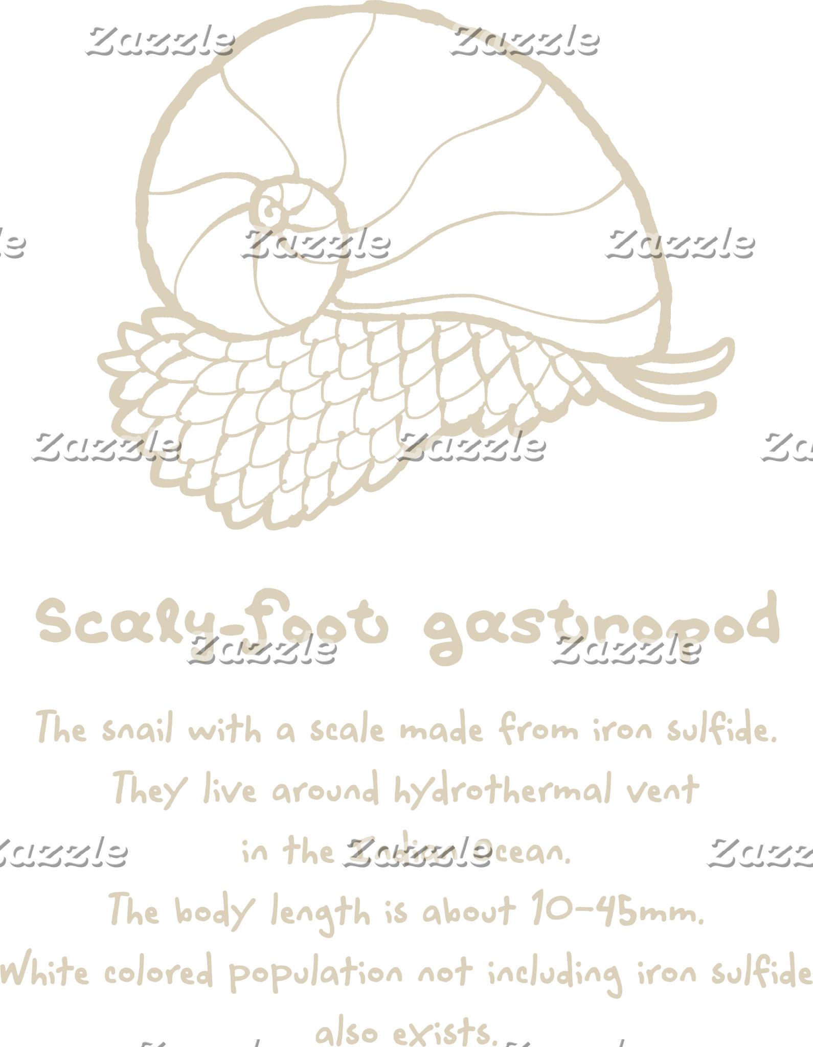 【スケーリーフット(ベージュ)】 Scaly-foot gastropod (Beige)