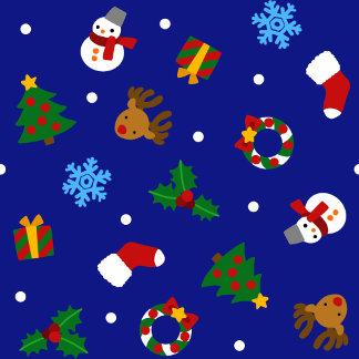 【クリスマスモチーフ シームレス】 Christmas motifs (Seamless)