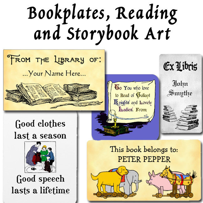 Bookplates, Reading and Storybook Art