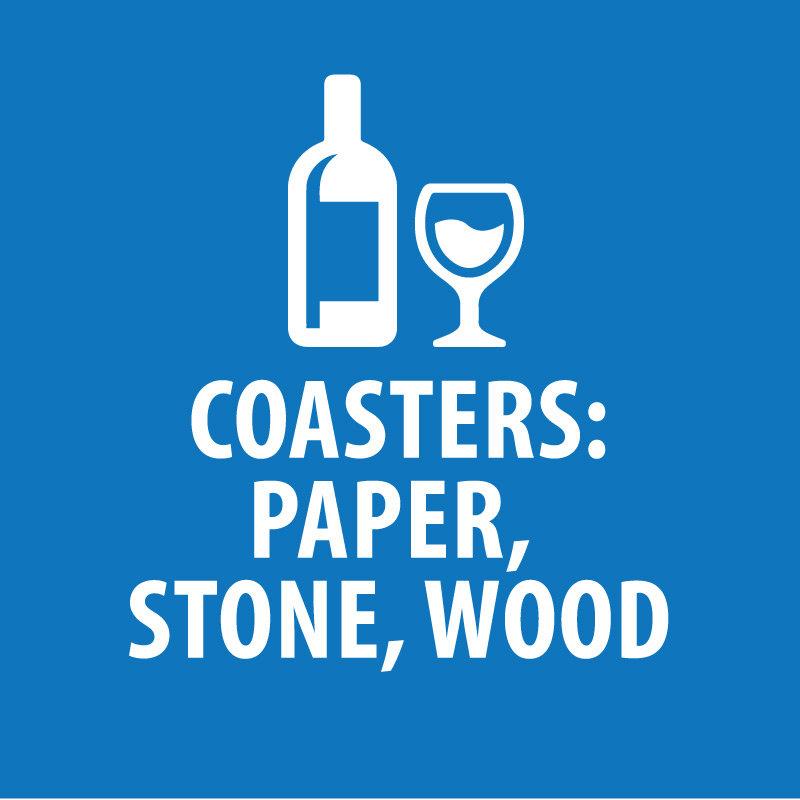 Coasters (Paper, Stone, Wood)