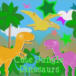 Cute Jungle Dinosaurs