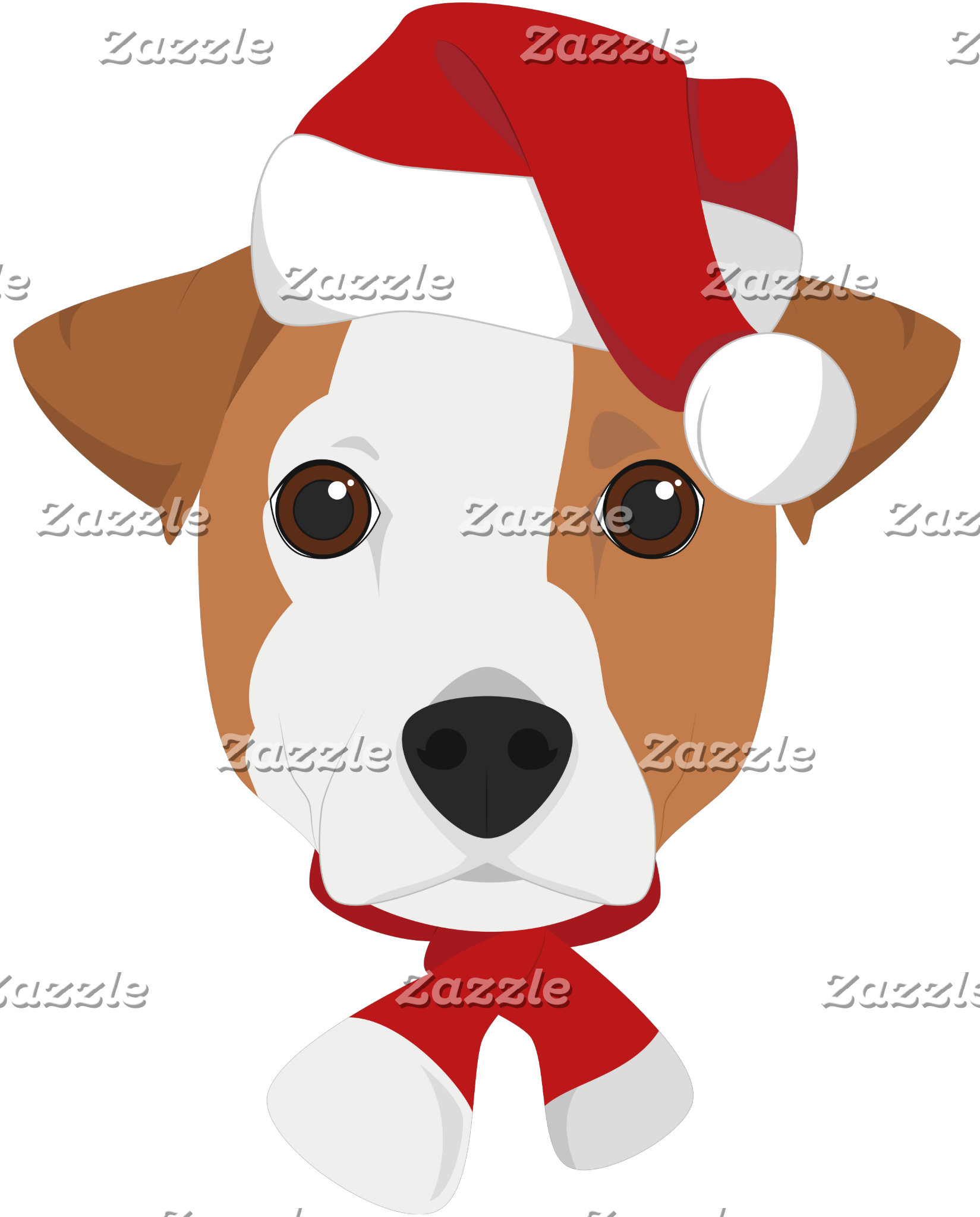 Jack Russell Santa Claus