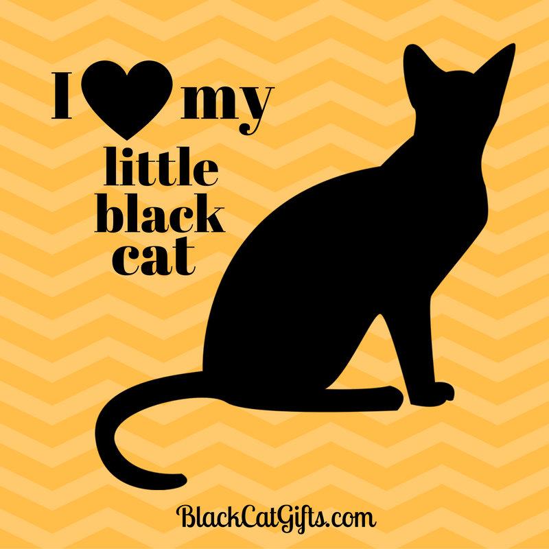 I Love My Little Black Cat