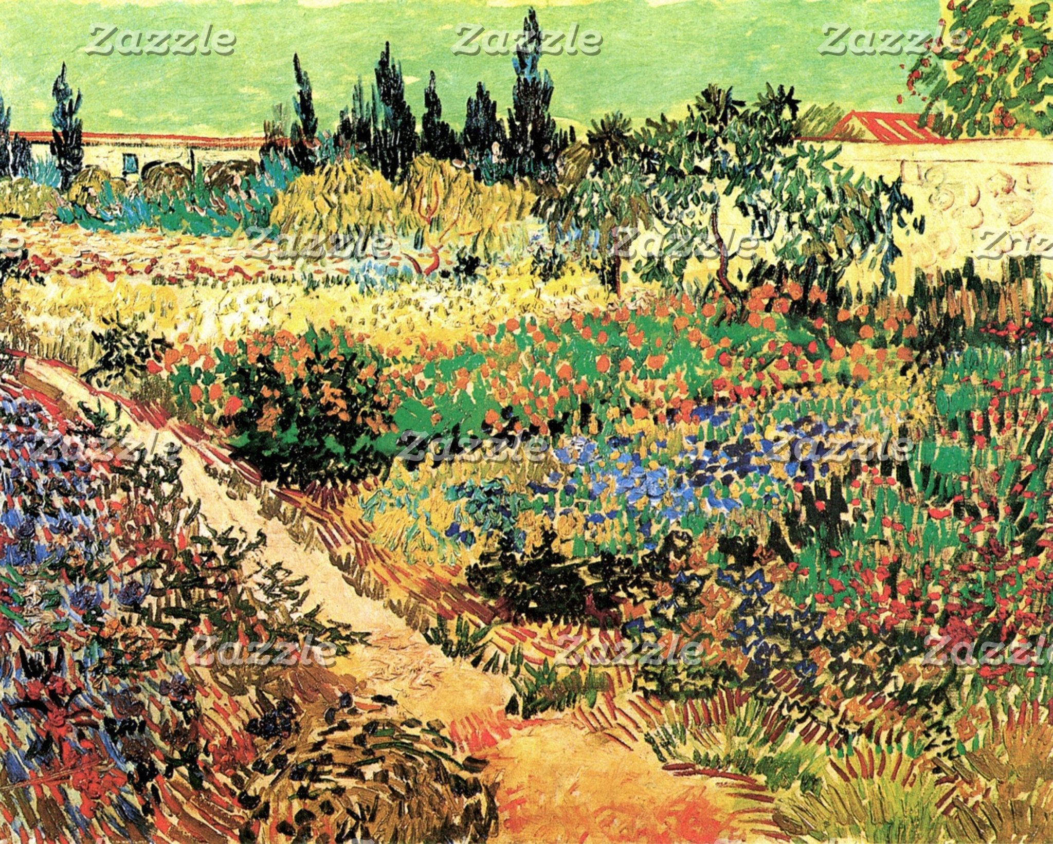 Flowering Garden With Path