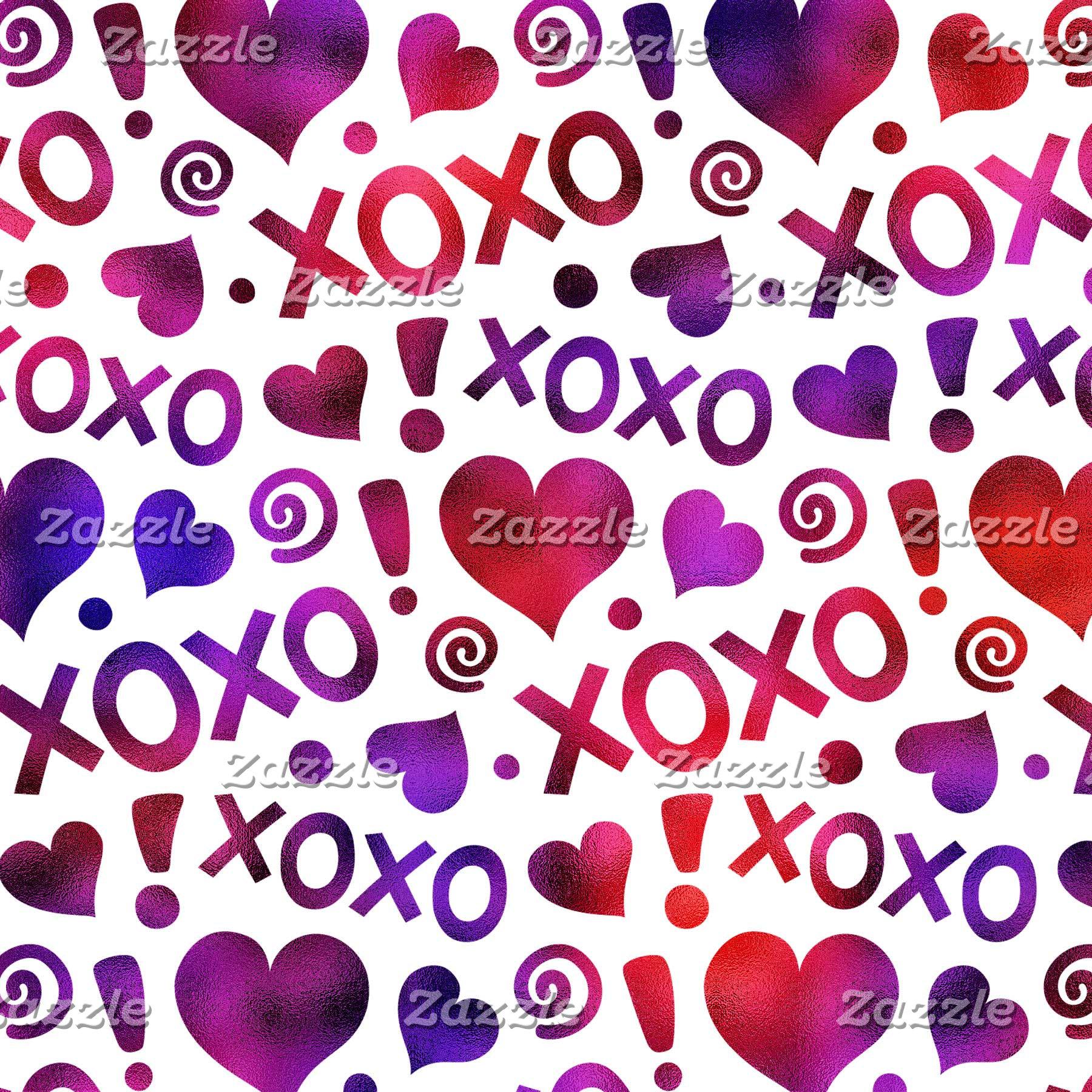 Valentine Hearts, Hugs and Kisses