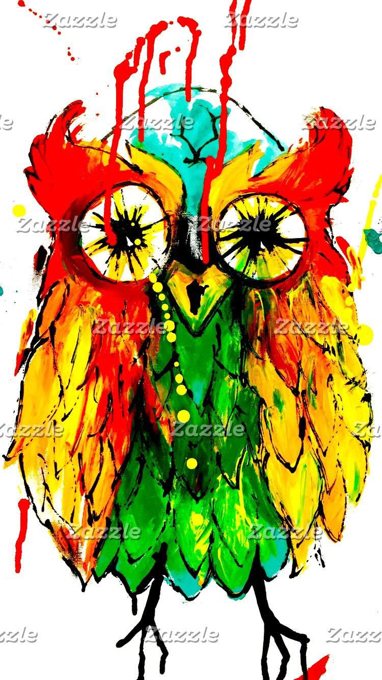 Tattoo ink owl design