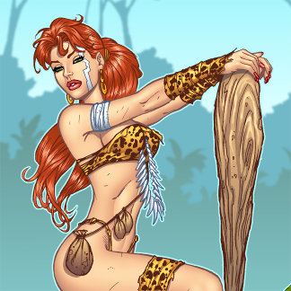 Cavewoman Pinups and Illustrations