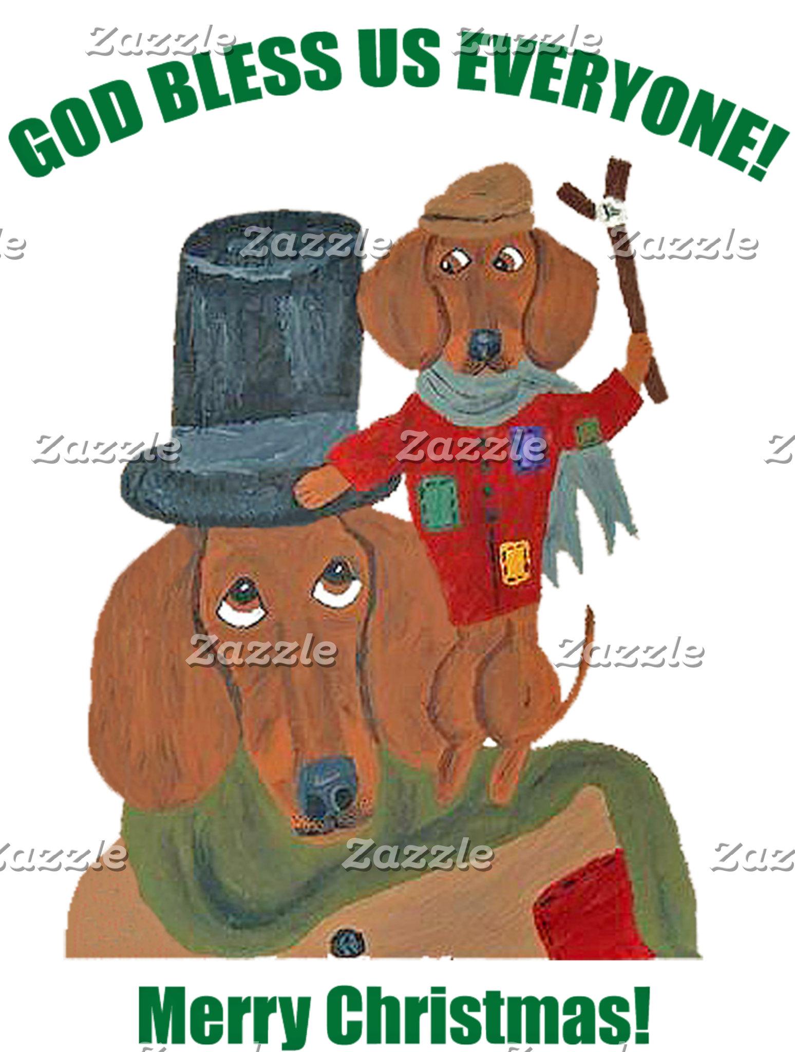 "Dachshund ""A Christmas Carol"" Tiny Tim"