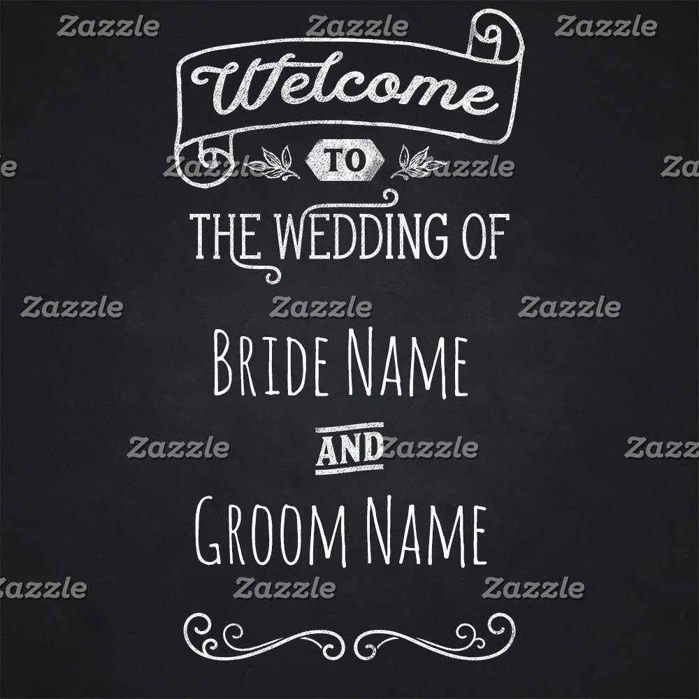 Welcome To Our Wedding Chalkboard Typography