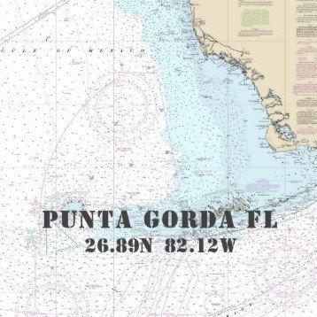 Nautical Boating Charts: Punta Gorda, Florida