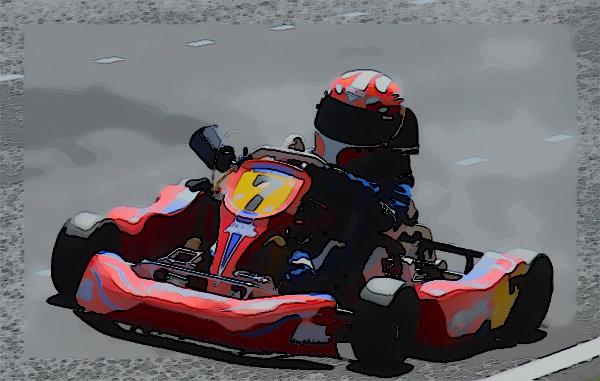 Kart Racer Cartooned