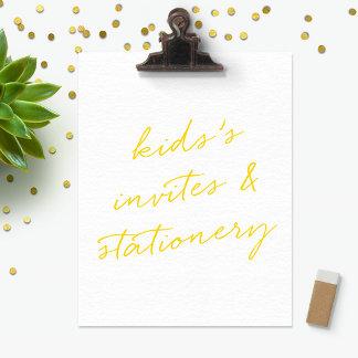 Kids Invitations & Stationery