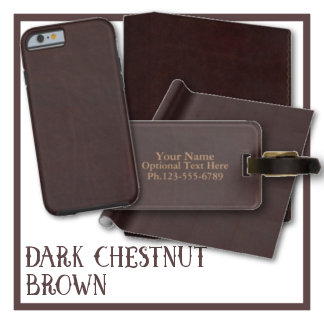 Dark Chestnut Brown Faux Leather