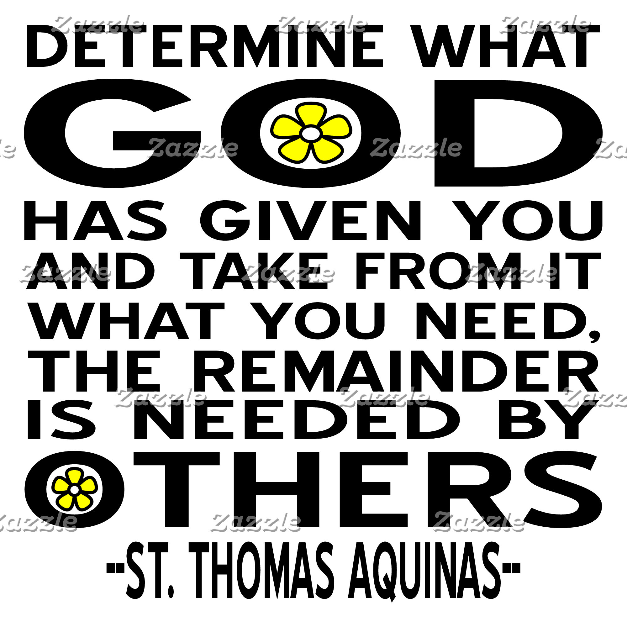 St. Thomas Aquinas -- Determine What God Had Given