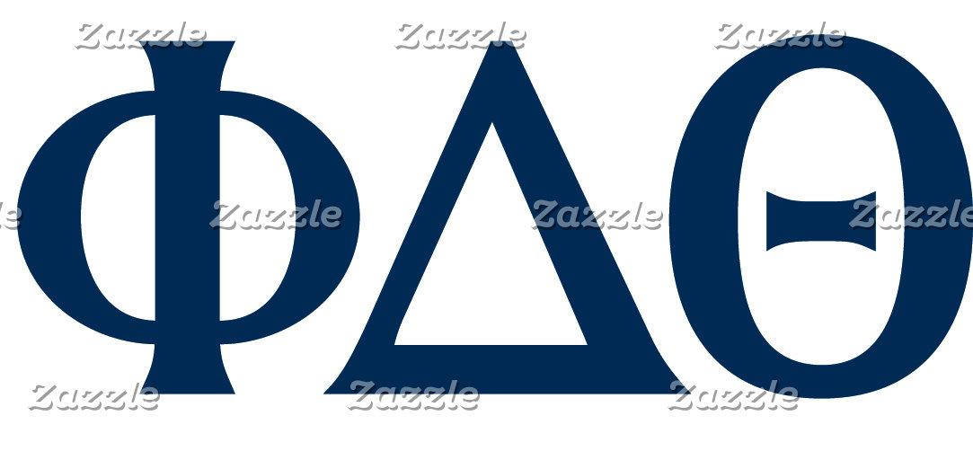 Greek Letters - Blue