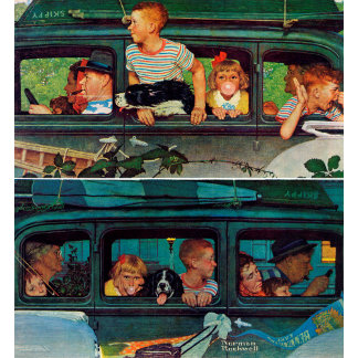 Coming and Going by Norman Rockwell