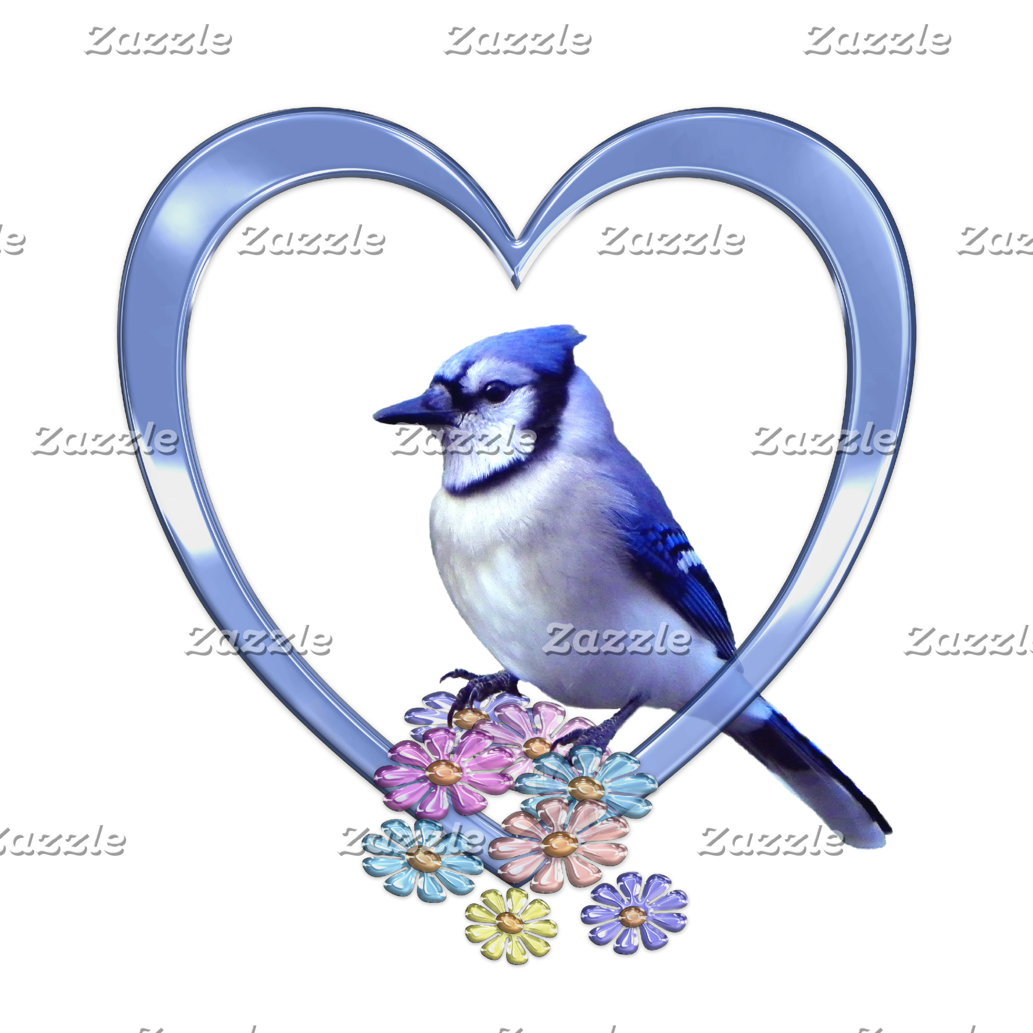 Blue Jay in Heart