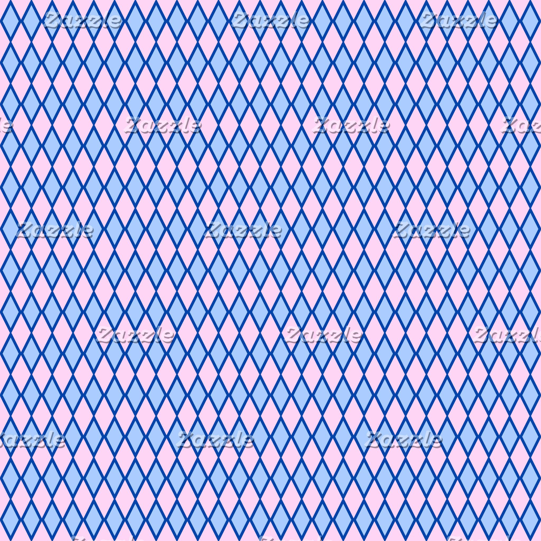Blue and Pink Diamond Shape Pattern