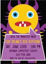 Monster Birthday Party Invitations